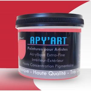 Rouge de cadmium moyen pot peinture acrylique