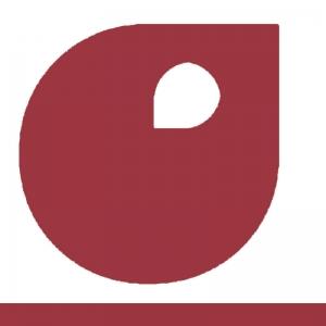 Rouge de cadmium foncé vignette peinture acrylique