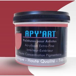 Rouge de cadmium foncé pot peinture acrylique