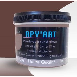 Rouge de cadmium bordeaux pot peinture acrylique