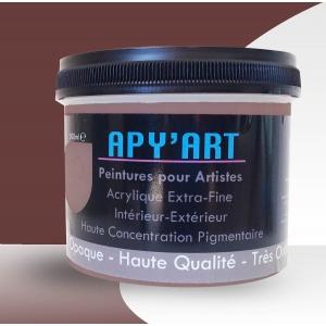 Rouge de oxyde foncé pot peinture acrylique