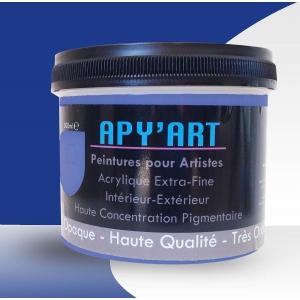 peinture acrylique bleu phtalo foncé