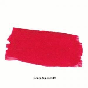 Rouge feu application peinture acrylique