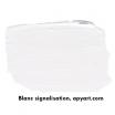 Blanc signalisation vignette peinture acrylique