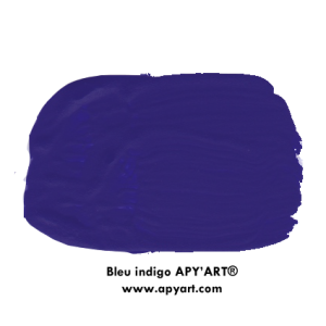 Bleu indigo application peinture apyart
