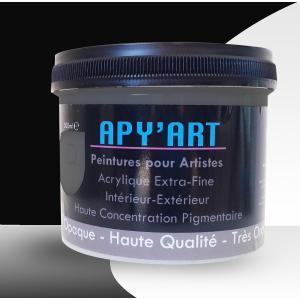 Noir foncé pot peinture acrylique 500ml