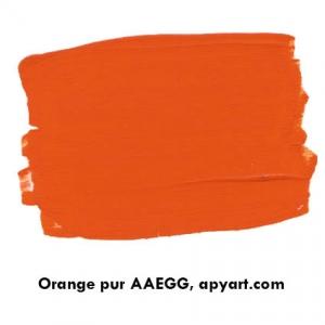 orange pur  nuancier peinture 500 ml
