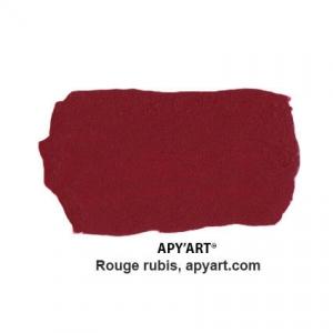 Rouge rubis vignette peinture acrylique