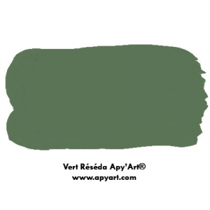 Vert Réséda  application peinture acrylique