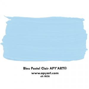 Bleu pastel clair application peinture