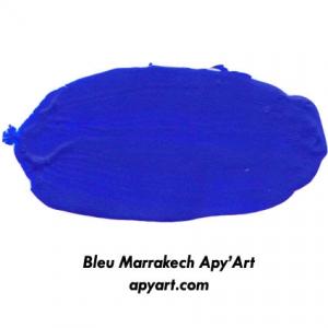 Bleu Marrakech application peinture acrylique