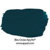 Peinture acrylique Bleu océan application