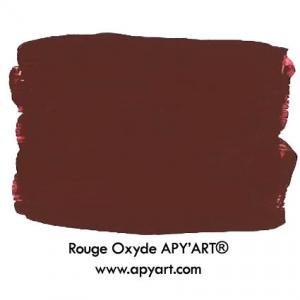 Rouge oxyde application peinture acrylique