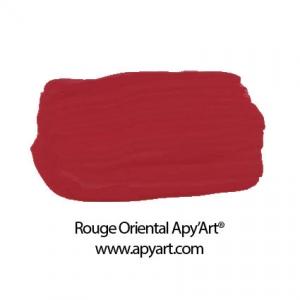 Rouge oriental application peinture acrylique