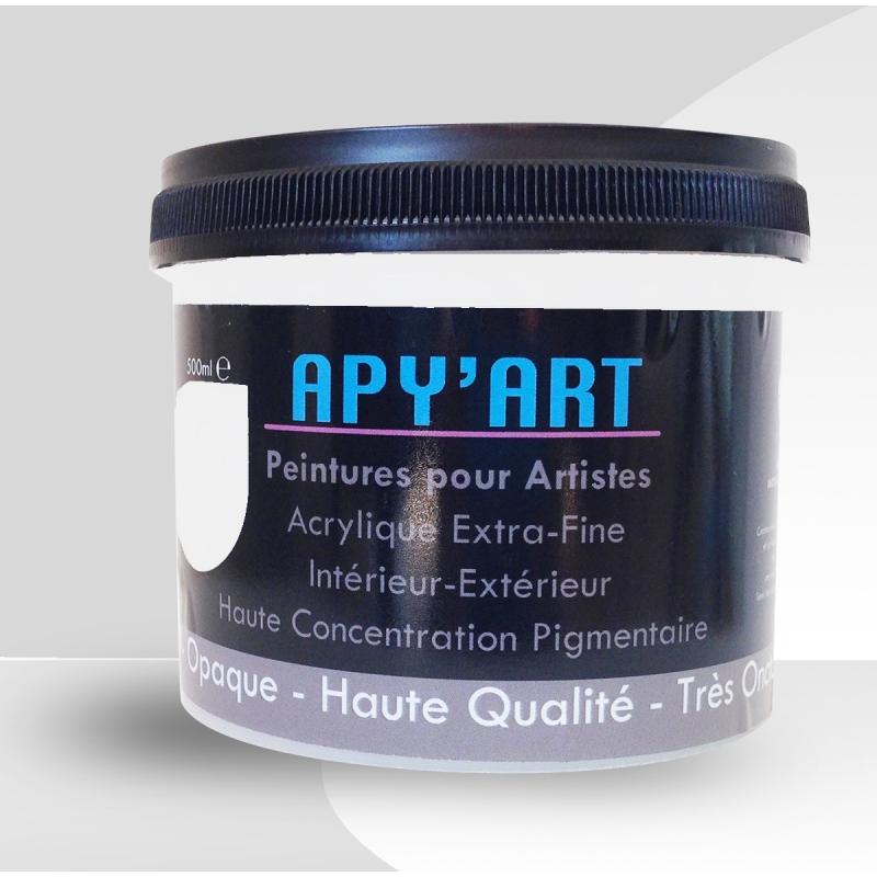 Gris clair 500ml peinture acrylique - Peinture gris clair ...