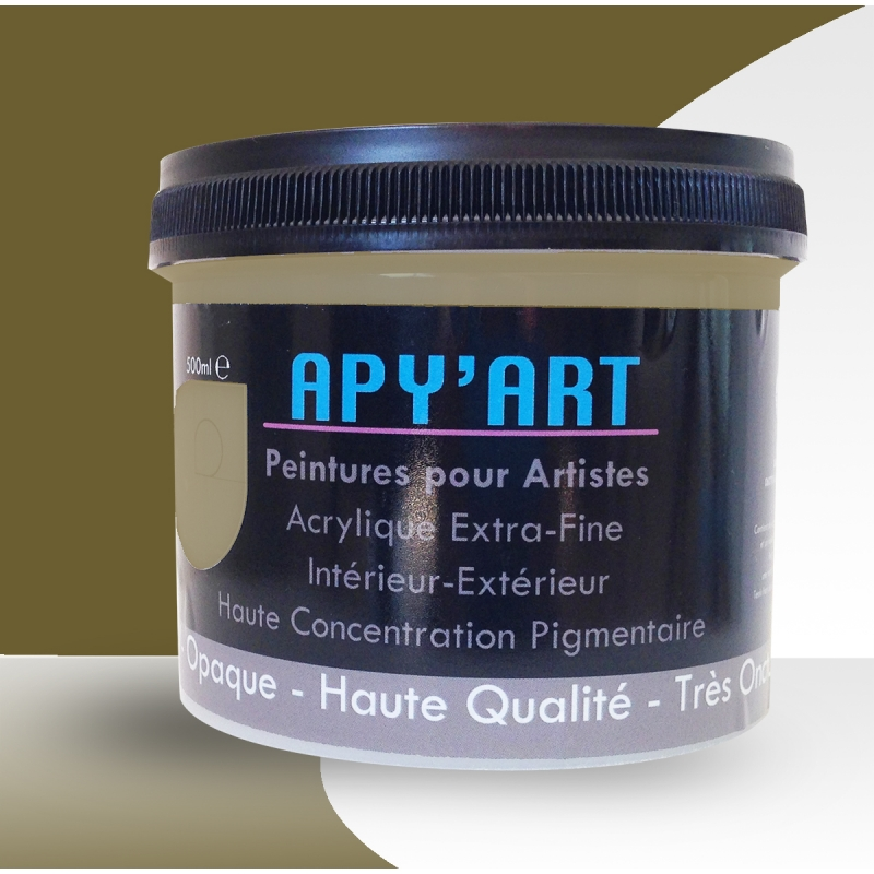 gris kaki 500ml peinture acrylique peinture apyart. Black Bedroom Furniture Sets. Home Design Ideas