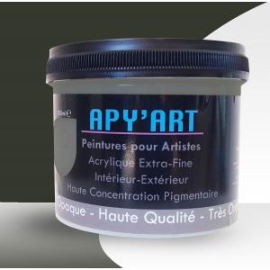 Gris terre d'ombre pot peinture acrylique