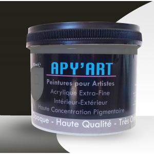 Olive Brun pot peinture acrylique