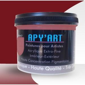 Rouge pourpre pot peinture acrylique