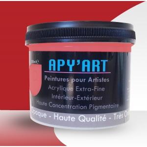 Rouge oriental pot peinture acrylique
