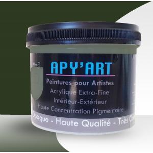 Vert oxyde pot vignette peinture acrylique