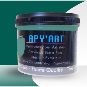 Vert opale pot peinture acrylique