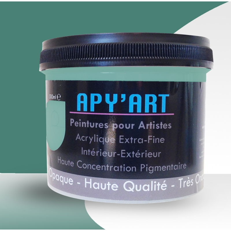 turquoise menthe 500ml peinture acrylique peinture apyart. Black Bedroom Furniture Sets. Home Design Ideas