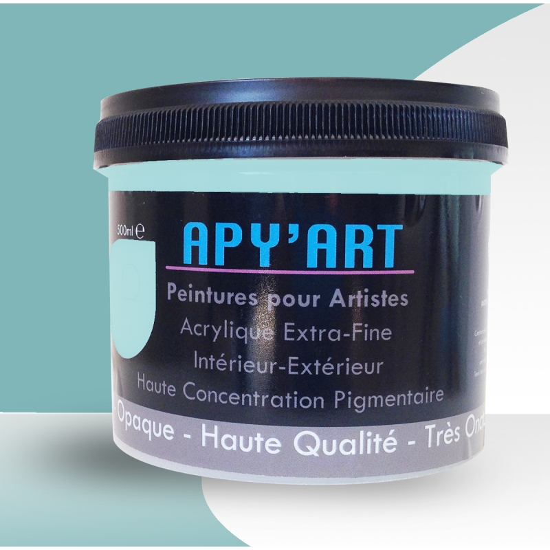 turquoise pastel 500ml peinture acrylique peinture apyart. Black Bedroom Furniture Sets. Home Design Ideas